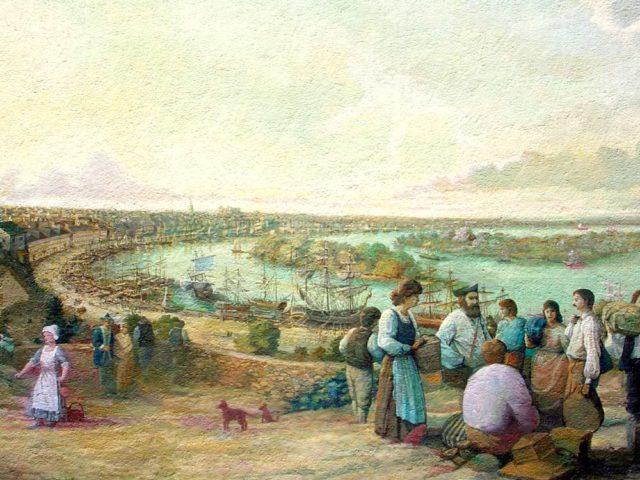 Port de Nantes en 1785