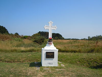 The Acadian cross near Bangor