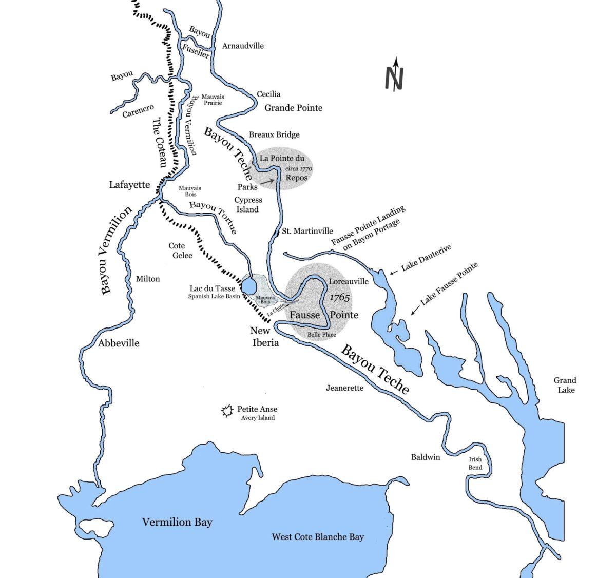 Donald J. Arceneaux's map