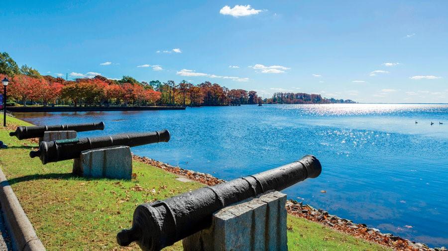 Lieu du débarquement des Acadiens à Edenton
