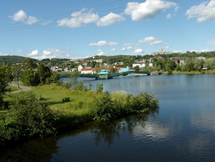 La rivière Madawaska à Edmundston