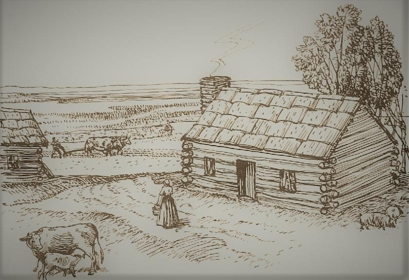 The ancestral Acadian home