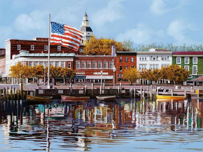 Embouchure de la rivière Severn à Annapolis