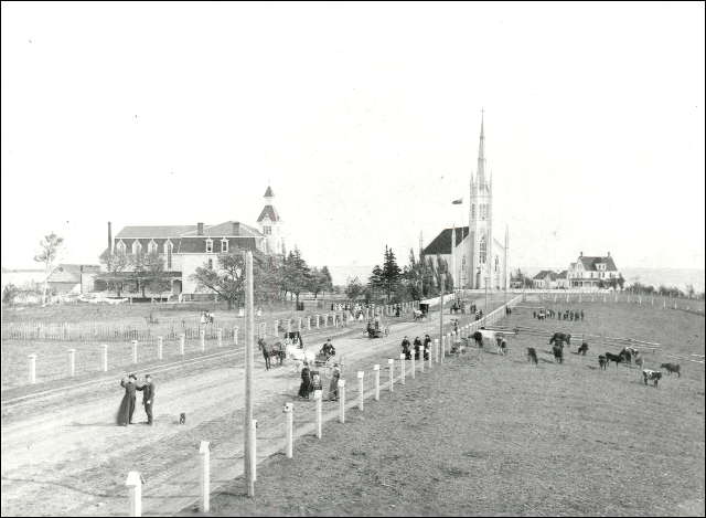 The town of Bouctouche in 1893