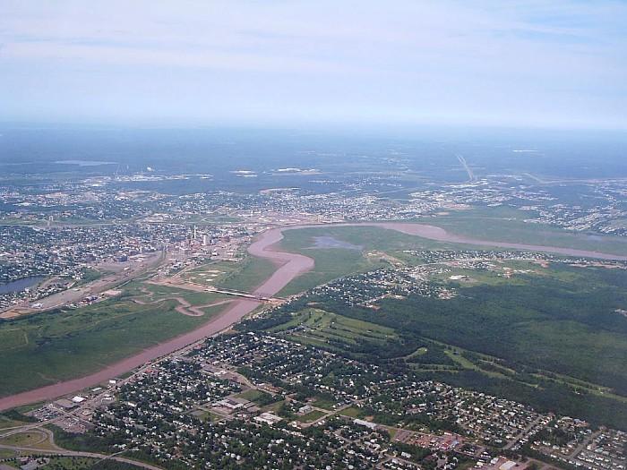 The bend of the Petitcodiac River