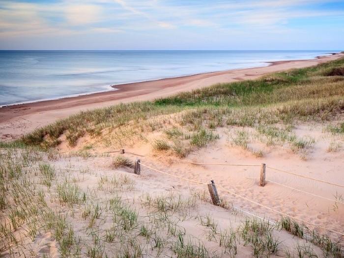 Le golfe du Saint-Laurent depuis les dunes de sable de Greenwich