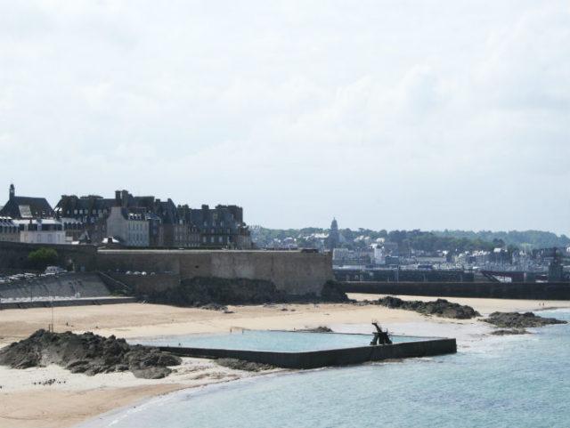 Plage du Bon-secours à Saint-Malo