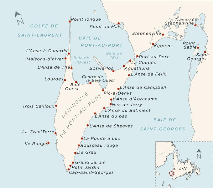 Map of the Port-au-Port Peninsula