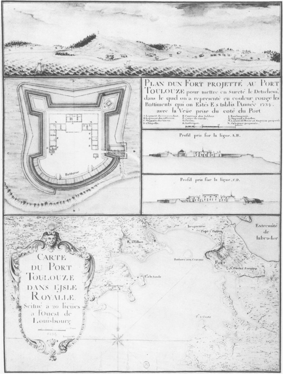 Dessins des fortifications de Port Toulouse