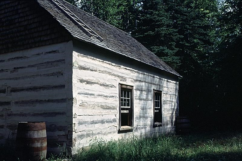 Acadian log cabin